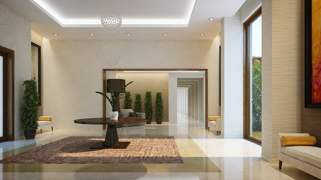 Residential Building Entrance Lobby Design